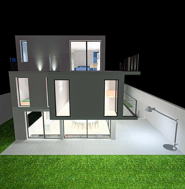 Turnkey project of light design, lighting designer in Paris Amocosy